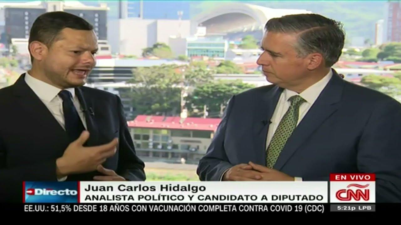 Imagen de Juan Carlos Hidalgo con Juan Carlos López de CNN